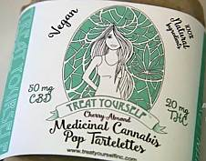 treat yourself vegan medicinal marijuana tarts and treats