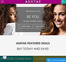 main website image for Ashtae Products